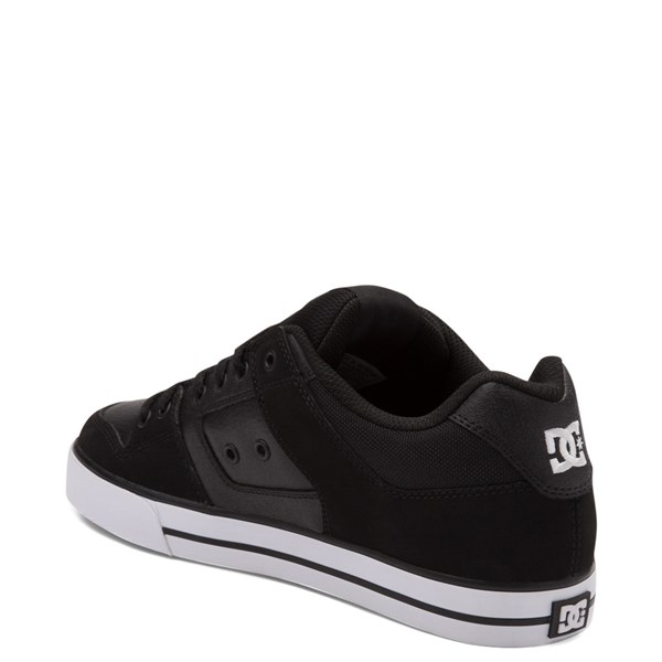 alternate view Mens DC Pure Skate Shoe - Black / WhiteALT2