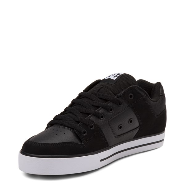 alternate view Mens DC Pure Skate Shoe - Black / WhiteALT3