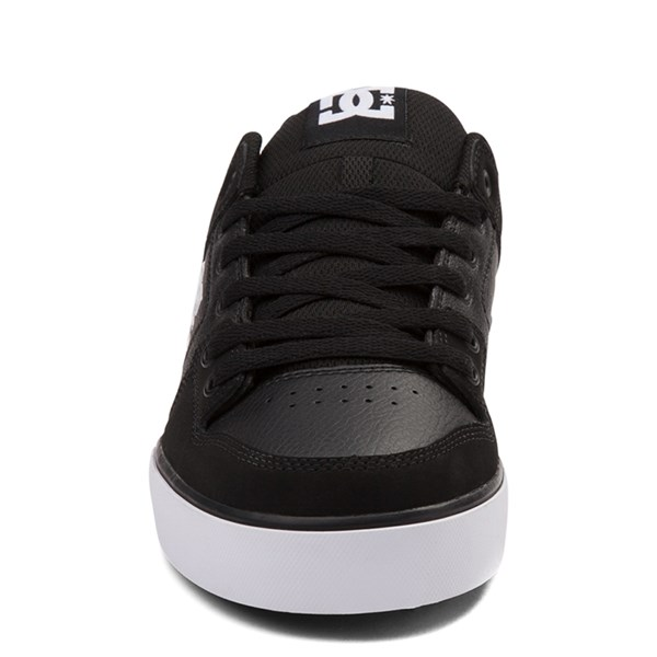 alternate view Mens DC Pure Skate Shoe - Black / WhiteALT4