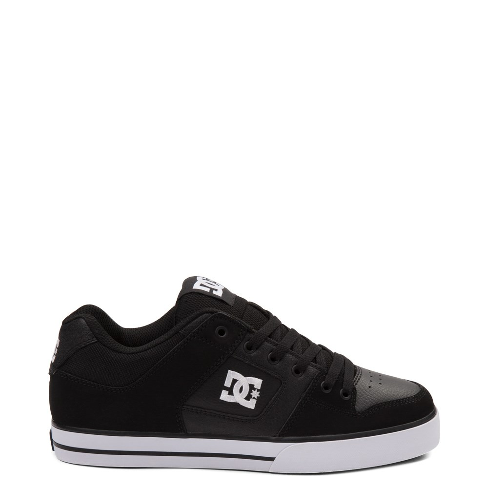 Mens DC Pure Skate Shoe - Black / White