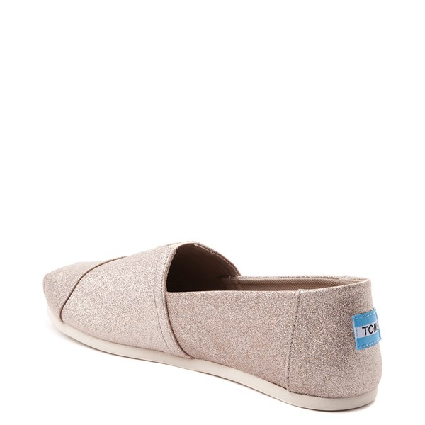 alternate view Womens TOMS Classic Glimmer Slip On Casual ShoeALT2
