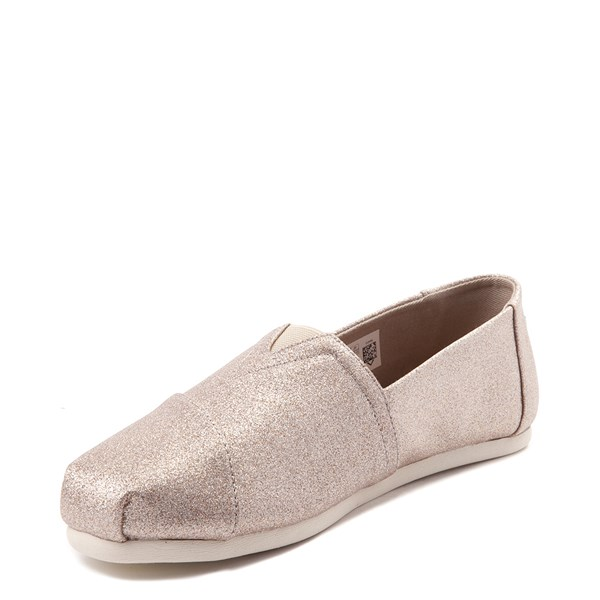 alternate view Womens TOMS Classic Glimmer Slip On Casual ShoeALT3