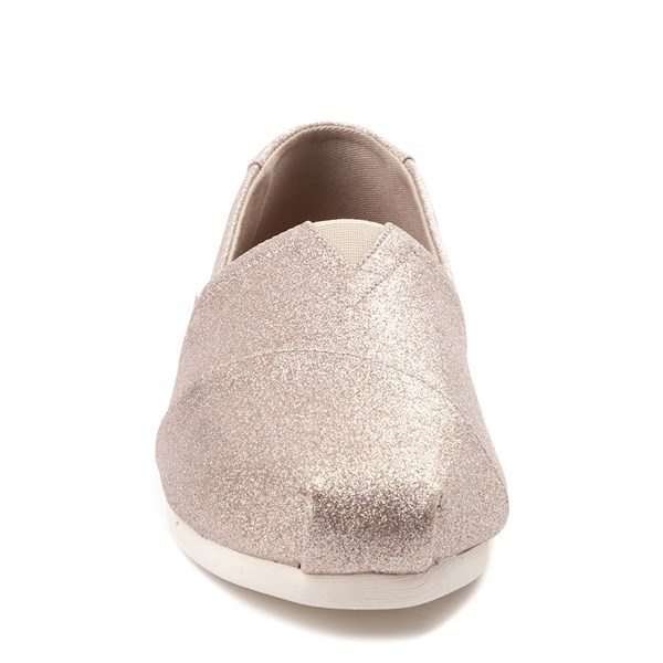 alternate view Womens TOMS Classic Glimmer Slip On Casual ShoeALT4