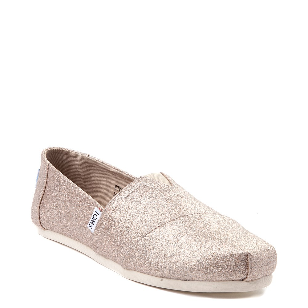5ad38263412 Womens TOMS Classic Glimmer Slip On Casual Shoe