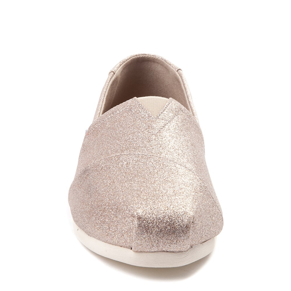 857d49161e0a Womens TOMS Classic Glimmer Slip On Casual Shoe