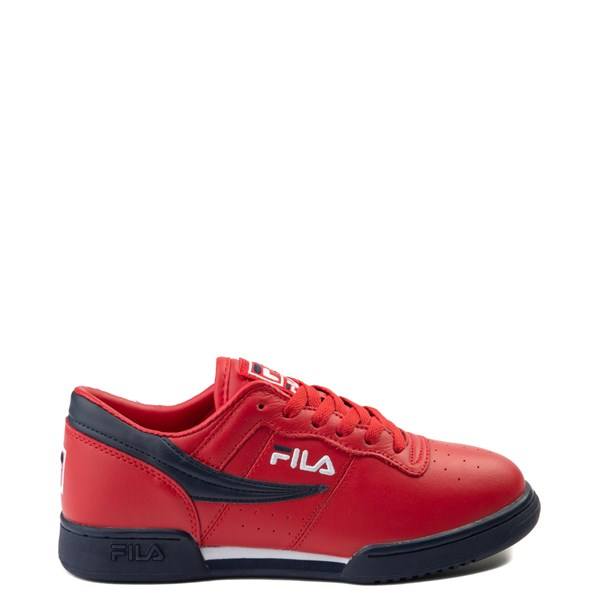Mens Fila Original Fitness Athletic Shoe - Navy / White / Red