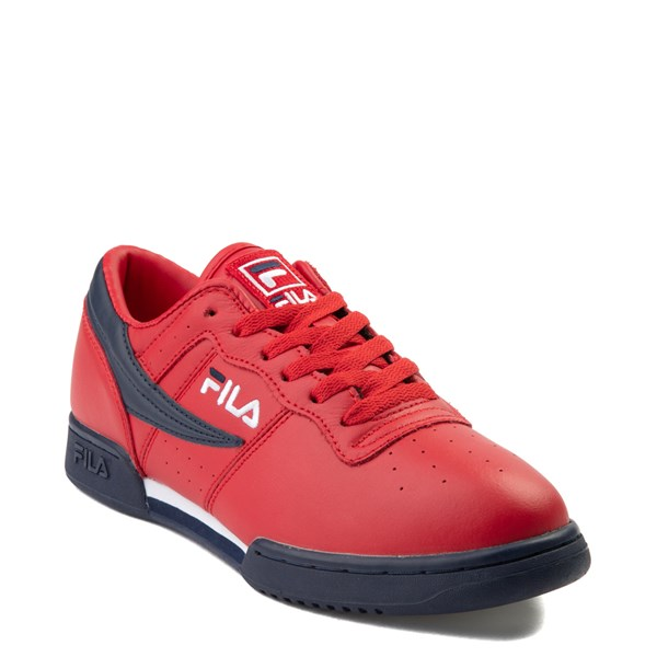 alternate view Mens Fila Original Fitness Athletic Shoe - Navy / White / RedALT1
