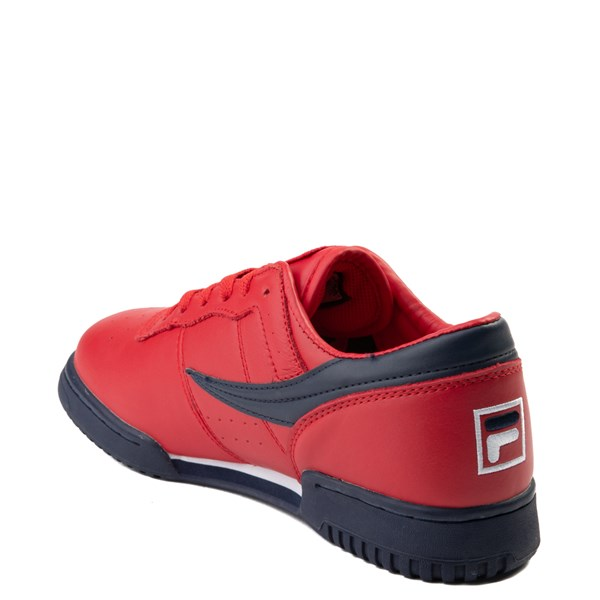 alternate view Mens Fila Original Fitness Athletic Shoe - Navy / White / RedALT2