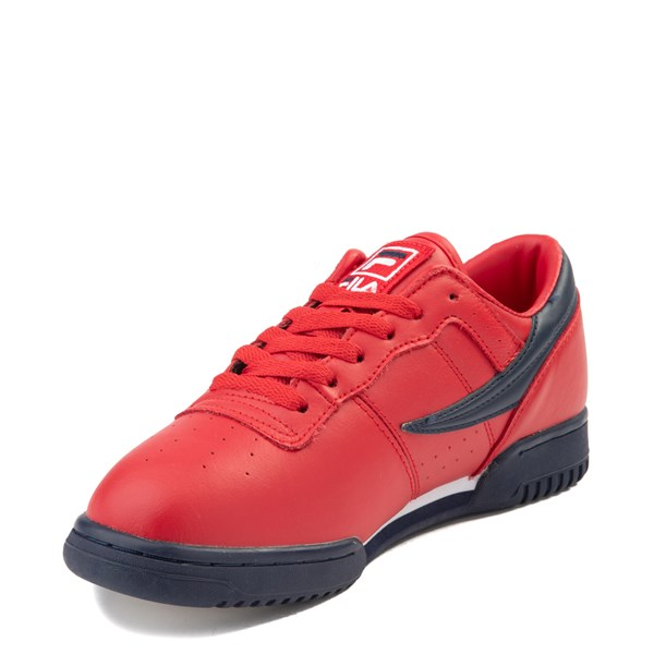 alternate view Mens Fila Original Fitness Athletic Shoe - Navy / White / RedALT3