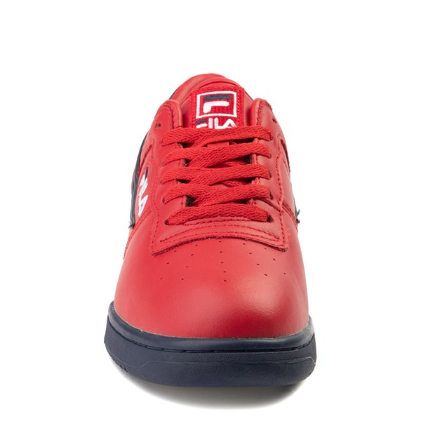 alternate view Mens Fila Original Fitness Athletic Shoe - Navy / White / RedALT4