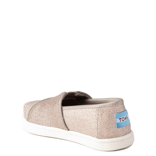 alternate view TOMS Classic Glimmer Slip On Casual Shoe - Baby / Toddler / Little KidALT2