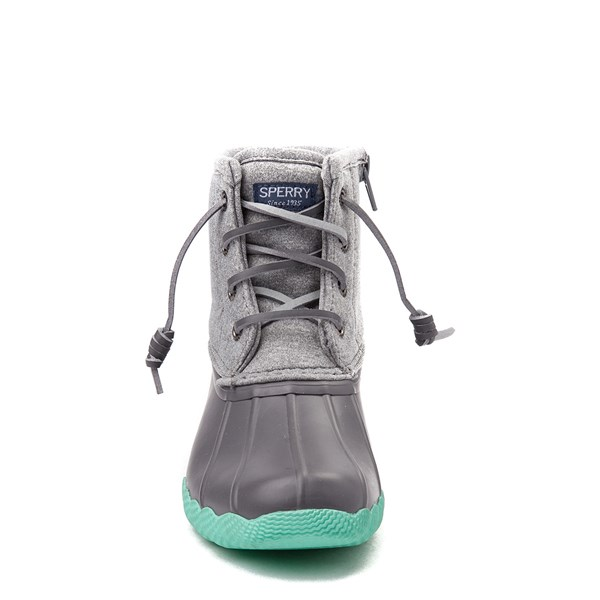 alternate view Sperry Top-Sider Saltwater Boot - Little Kid / Big Kid - GrayALT4