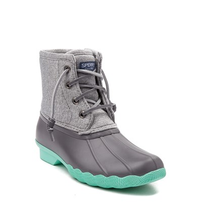 Alternate view of Sperry Top-Sider Saltwater Boot - Little Kid / Big Kid - Gray