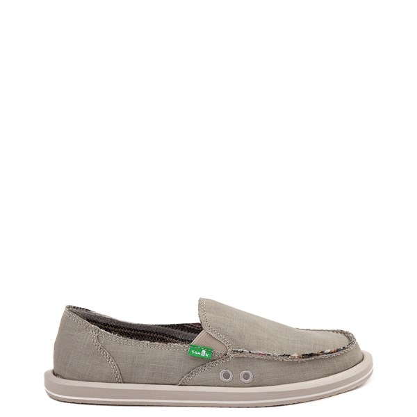 Womens Sanuk Donna Hemp Slip On Casual Shoe - Green