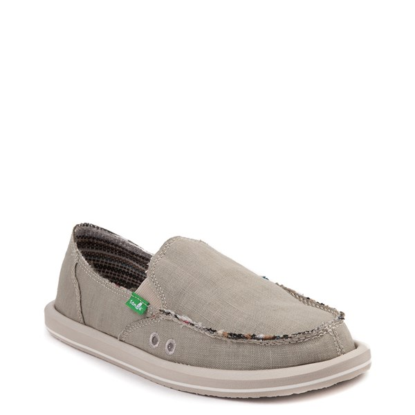 alternate view Womens Sanuk Donna Hemp Slip On Casual Shoe - GreenALT1