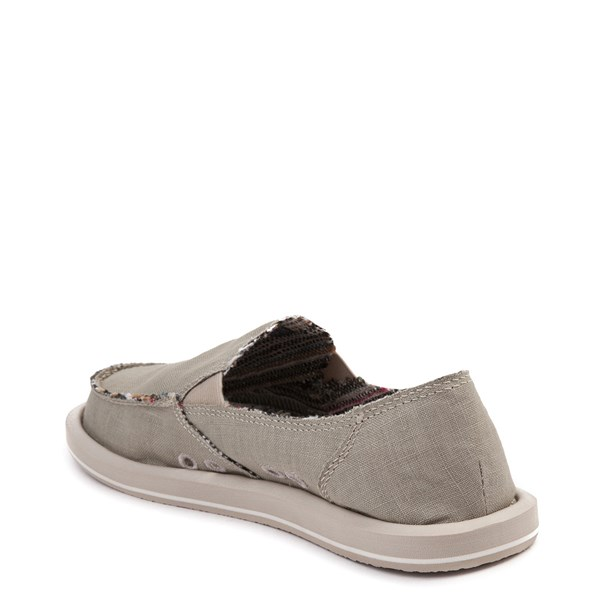 alternate view Womens Sanuk Donna Hemp Slip On Casual Shoe - GreenALT2