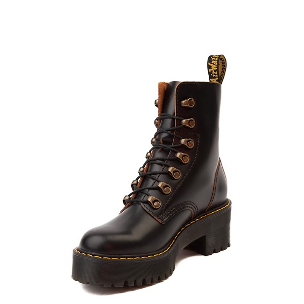 alternate view Womens Dr. Martens Leona Platform Boot - BlackALT2