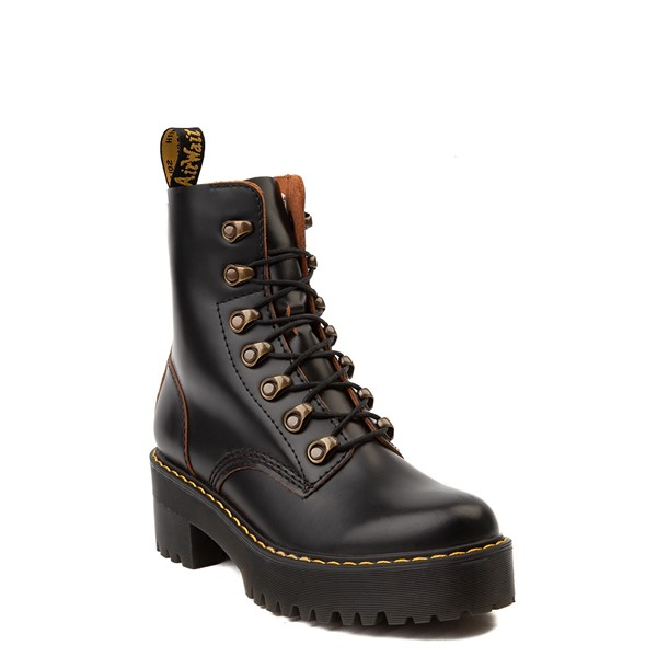 alternate view Womens Dr. Martens Leona Platform Boot - BlackALT5