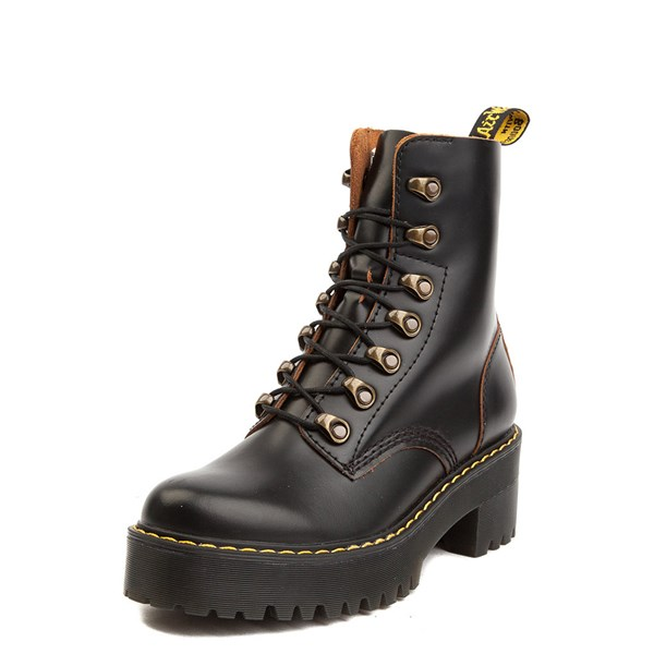 alternate view Womens Dr. Martens Leona Platform Boot - BlackALT1