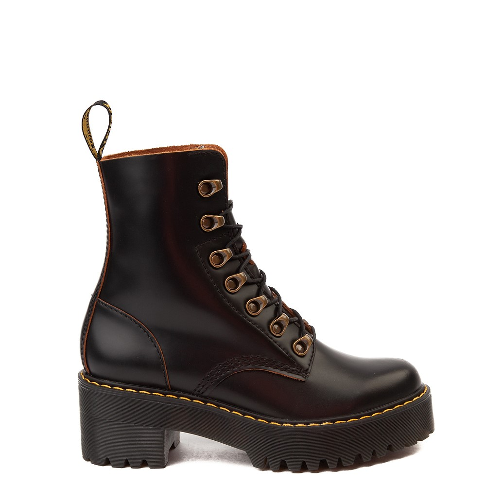 Womens Dr. Martens Leona Platform Boot - Black