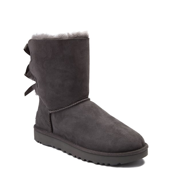 alternate view Womens UGG® Bailey Bow II Boot - GrayALT1