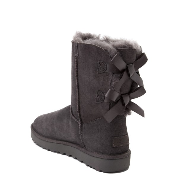 alternate view Womens UGG® Bailey Bow II Boot - GrayALT2