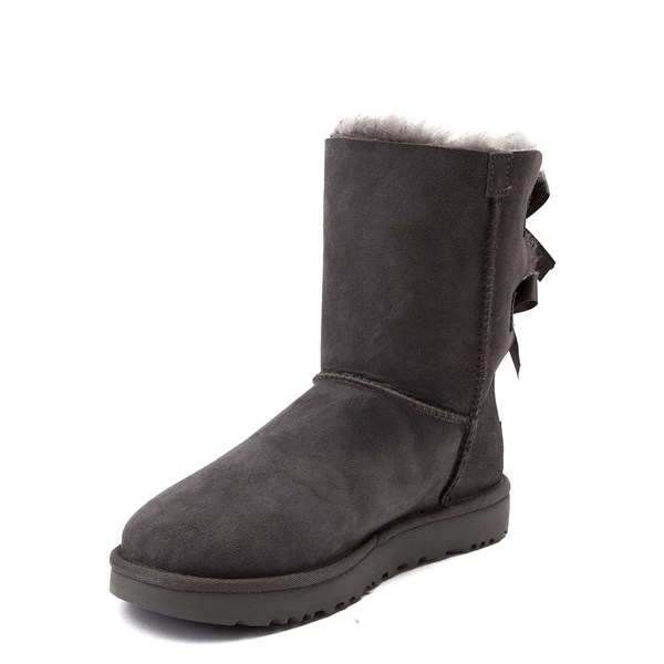 alternate view Womens UGG® Bailey Bow II Boot - GrayALT3