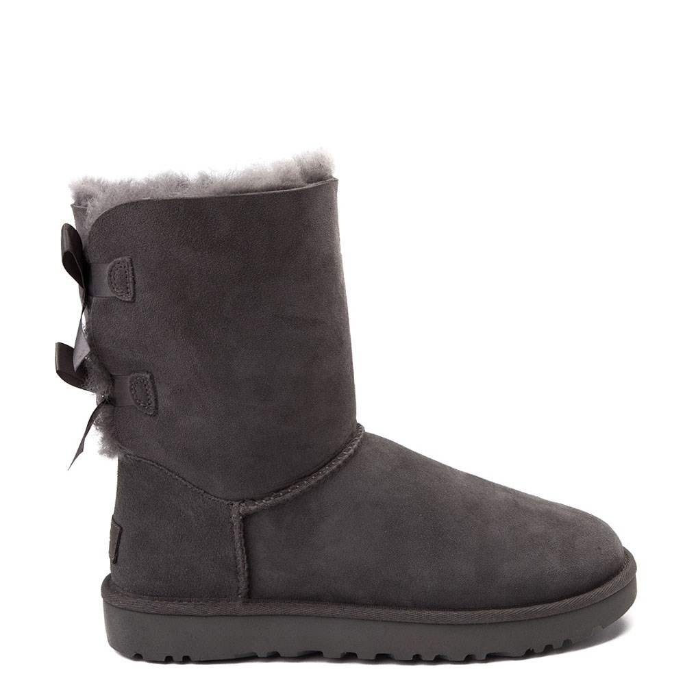 Womens UGG® Bailey Bow II Boot - Gray