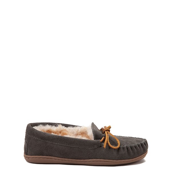 Womens Minnetonka Sheepskin Hardsole Moc Slipper