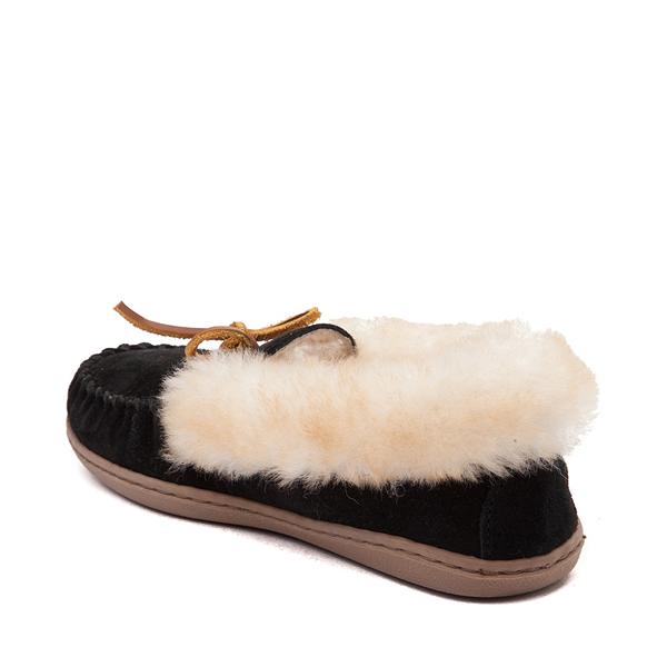 alternate view Womens Minnetonka Alpine Sheepskin Moc Casual Shoe - BlackALT1