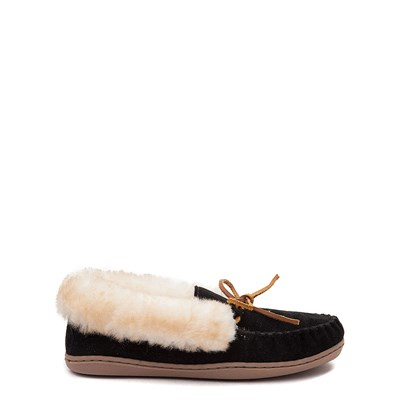 Main view of Womens Minnetonka Alpine Sheepskin Moc Casual Shoe - Black