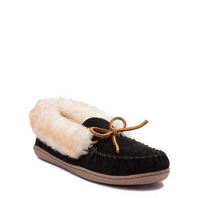 Alternate view of Womens Minnetonka Alpine Sheepskin Moc Casual Shoe - Black