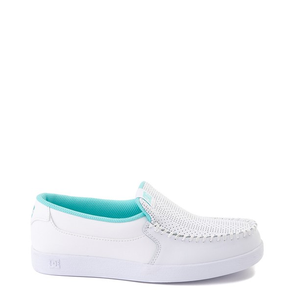 Womens DC Villain SE Skate Shoe - White / Aqua