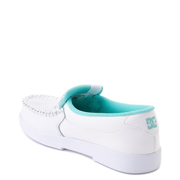 alternate view Womens DC Villain SE Skate Shoe - White / AquaALT1