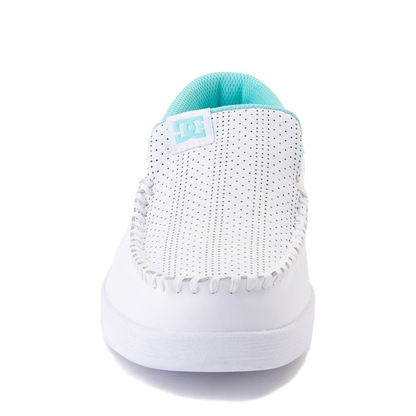 alternate view Womens DC Villain SE Skate Shoe - White / AquaALT4