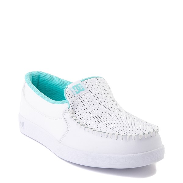 alternate view Womens DC Villain SE Skate Shoe - White / AquaALT5