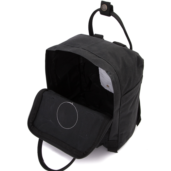 alternate view Fjallraven Kanken Mini Backpack - BlackALT3