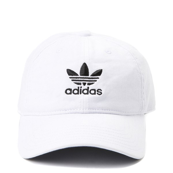 Main view of adidas Trefoil Relaxed Dad Hat - White