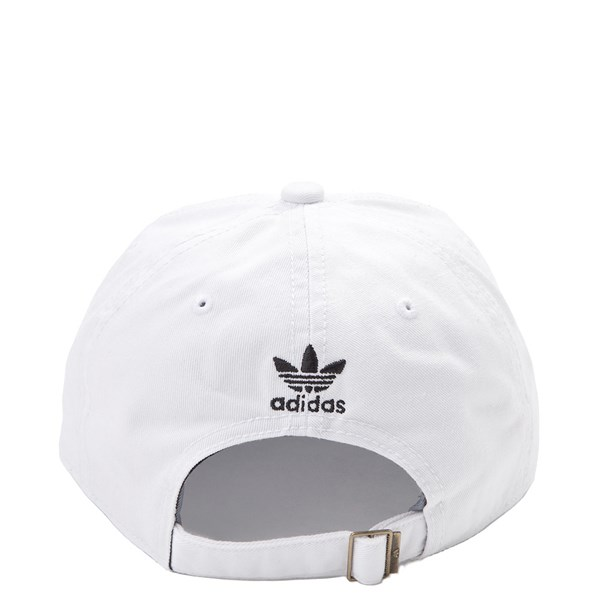 alternate view adidas Trefoil Relaxed Dad Hat - WhiteALT1
