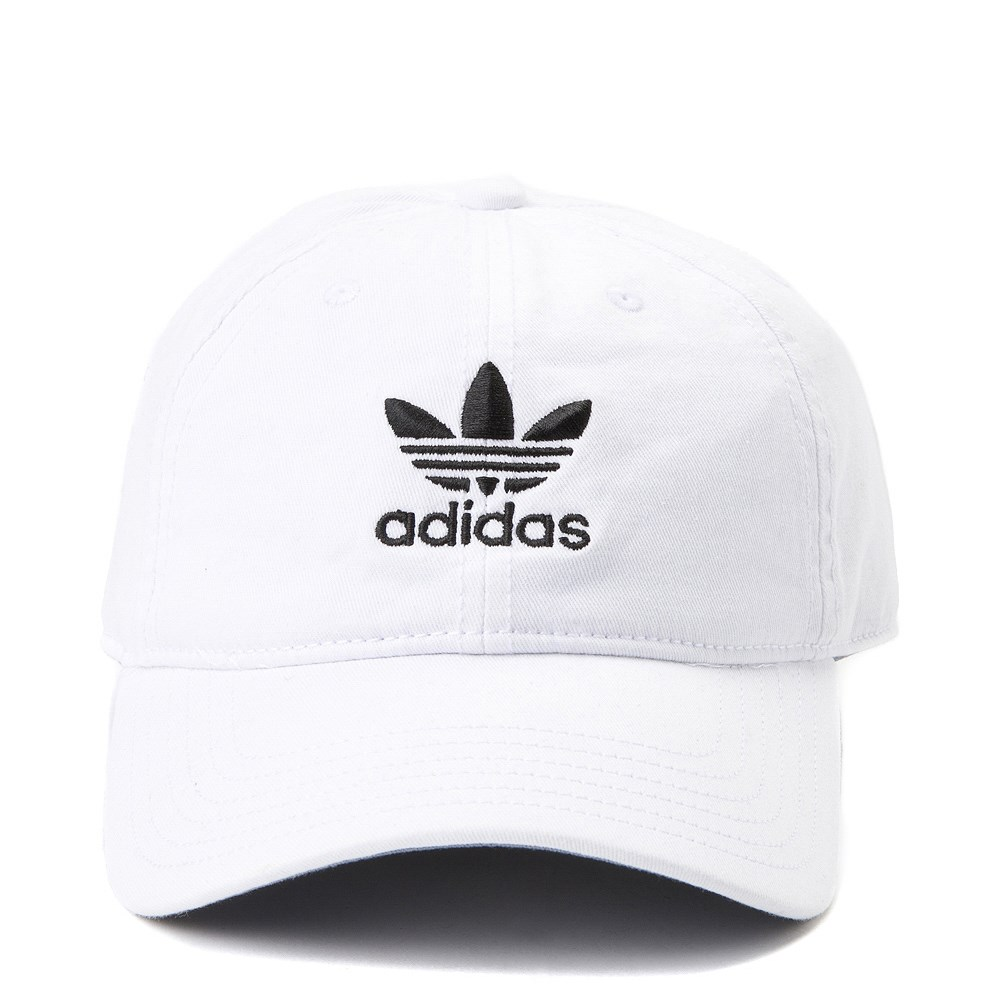 adidas Trefoil Relaxed Dad Hat - White