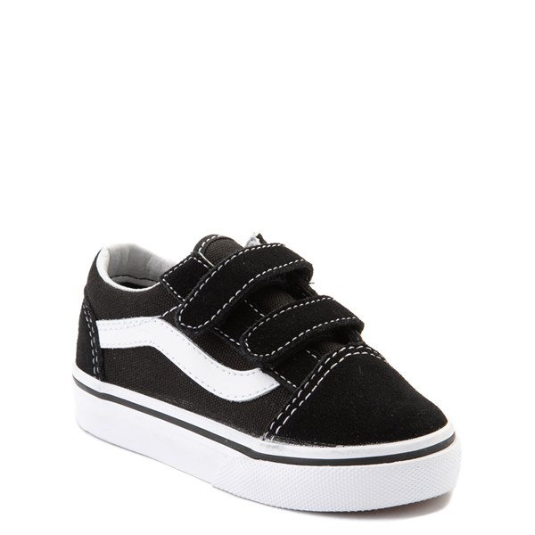 alternate view Vans Old Skool V Skate Shoe - Baby / Toddler - Black / WhiteALT1