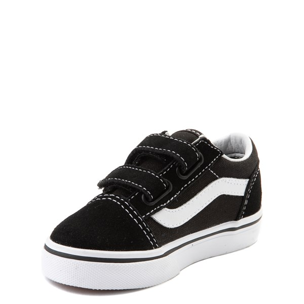 alternate view Vans Old Skool V Skate Shoe - Baby / Toddler - Black / WhiteALT3