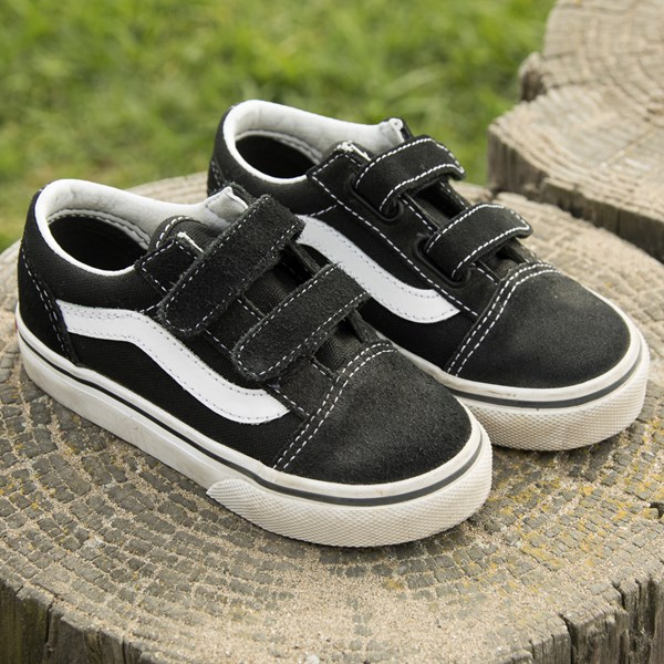 alternate view Vans Old Skool V Skate Shoe - Baby / Toddler - Black / WhiteALT7