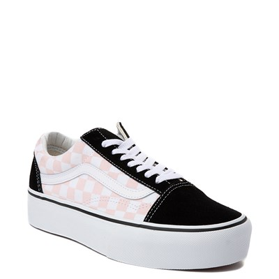 Alternate view of Vans Old Skool Chex Platform Skate Shoe