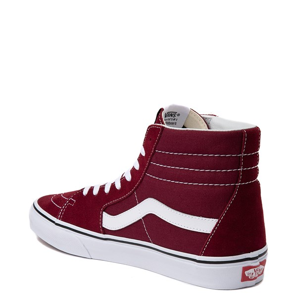 alternate view Vans Sk8 Hi Skate Shoe - Burgundy / WhiteALT2