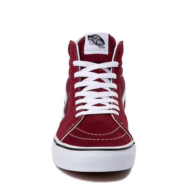 alternate view Vans Sk8 Hi Skate Shoe - Burgundy / WhiteALT4