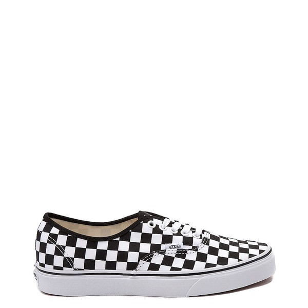 Main view of Vans Authentic Checkerboard Skate Shoe - Black / White
