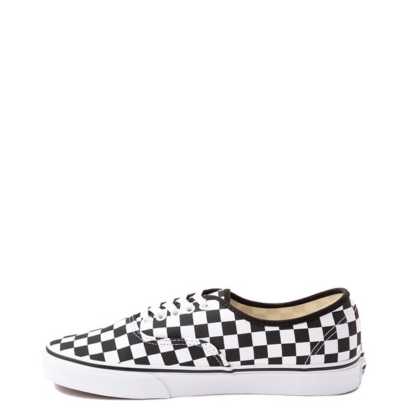 alternate view Vans Authentic Checkerboard Skate Shoe - Black / WhiteALT1