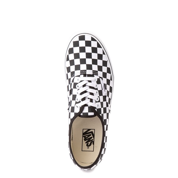 alternate view Vans Authentic Checkerboard Skate Shoe - Black / WhiteALT2