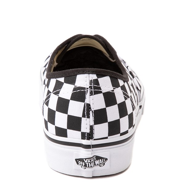 alternate view Vans Authentic Checkerboard Skate Shoe - Black / WhiteALT4